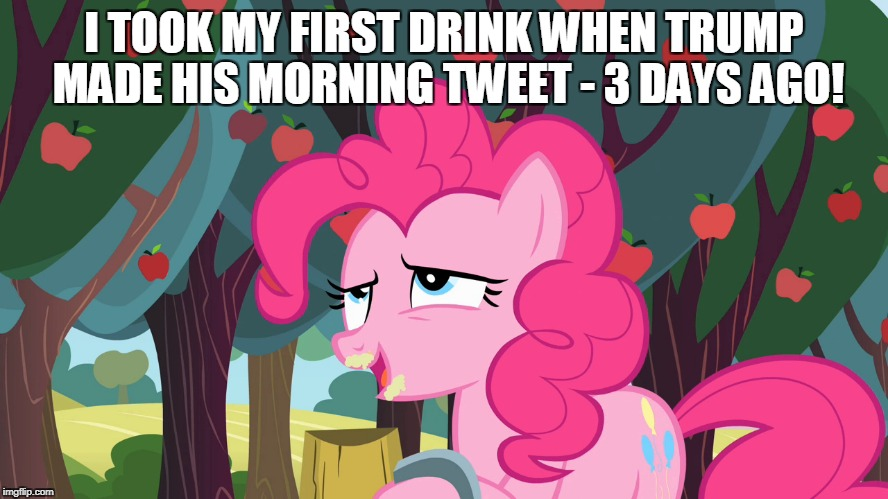 I TOOK MY FIRST DRINK WHEN TRUMP MADE HIS MORNING TWEET - 3 DAYS AGO! | made w/ Imgflip meme maker