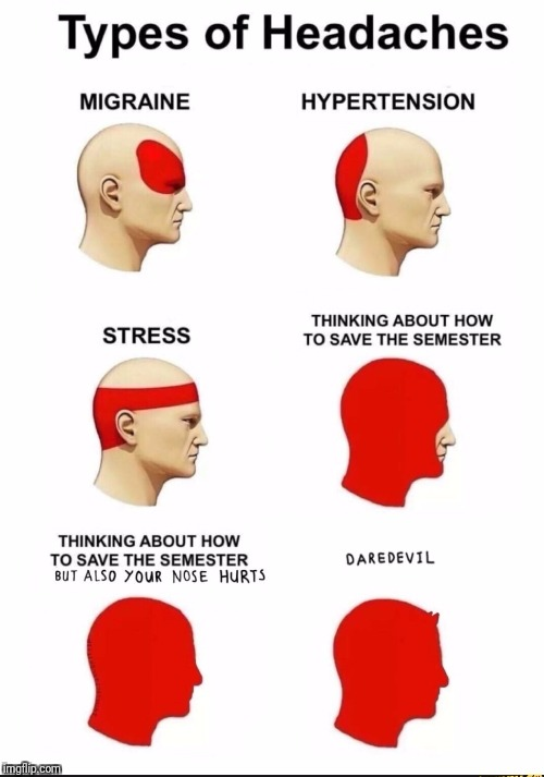 Oooohhhh....So that's why I go blind when I get a headache | image tagged in memes,daredevil | made w/ Imgflip meme maker