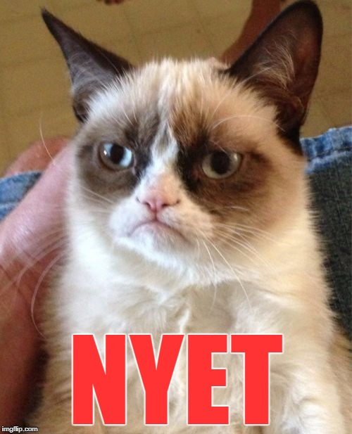 Grumpy Cat Meme | NYET | image tagged in memes,grumpy cat | made w/ Imgflip meme maker