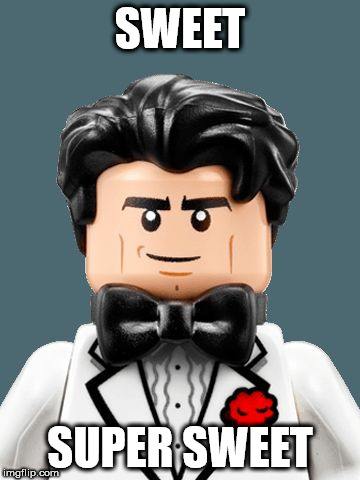 SWEET SUPER SWEET | image tagged in lego bruce wayne | made w/ Imgflip meme maker