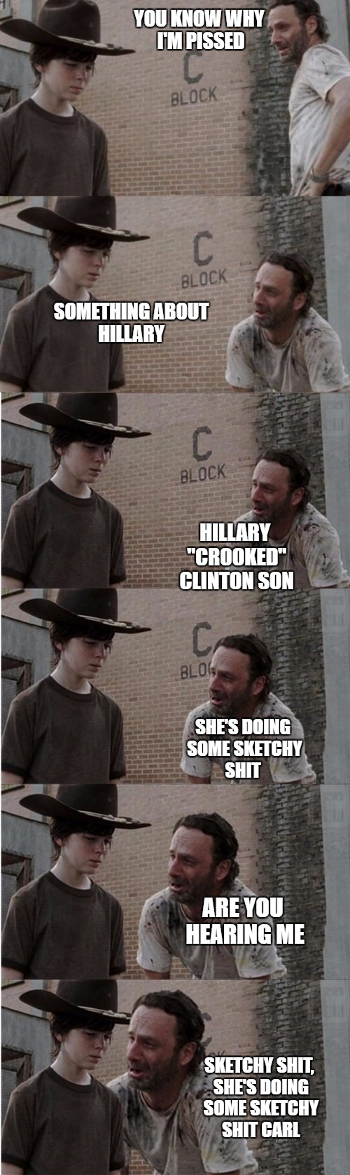 "She gets away with it | YOU KNOW WHY I'M PISSED SOMETHING ABOUT HILLARY HILLARY ""CROOKED"" CLINTON SON SHE'S DOING SOME SKETCHY SHIT ARE YOU HEARING ME SKETCHY SHIT, 