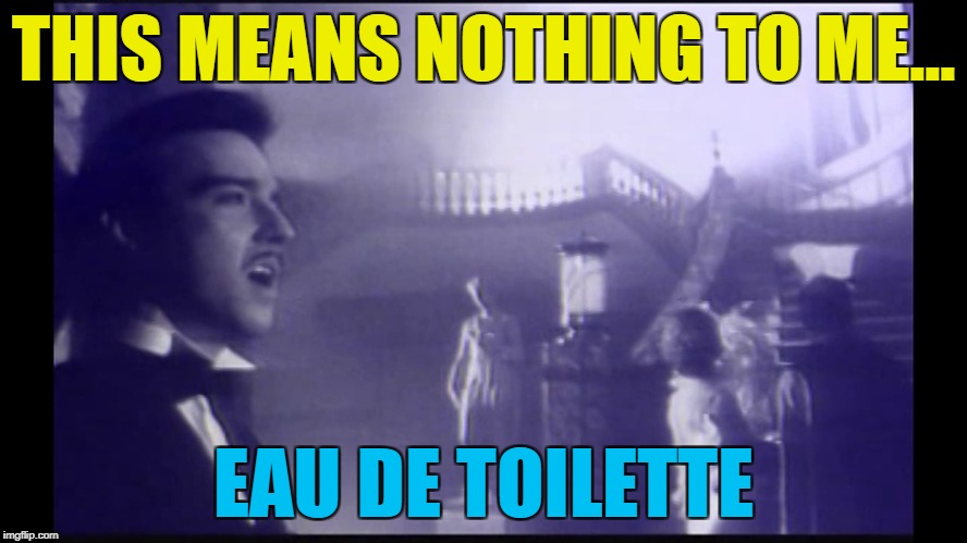 THIS MEANS NOTHING TO ME... EAU DE TOILETTE | made w/ Imgflip meme maker