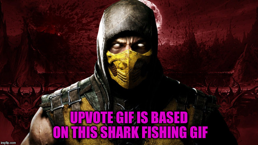 UPVOTE GIF IS BASED ON THIS SHARK FISHING GIF | made w/ Imgflip meme maker