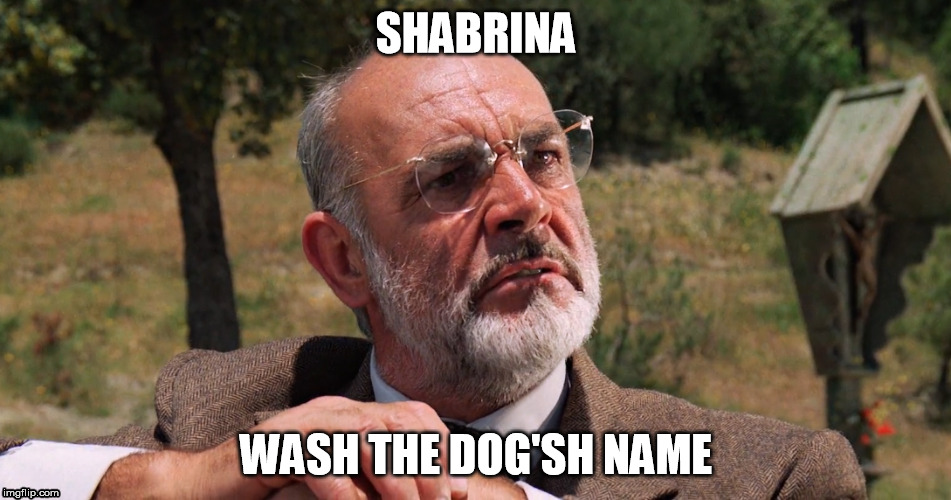 SHABRINA WASH THE DOG'SH NAME | made w/ Imgflip meme maker