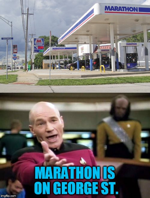 MARATHON IS ON GEORGE ST. | made w/ Imgflip meme maker
