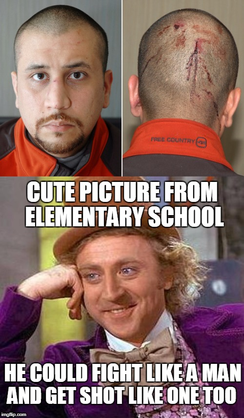 CUTE PICTURE FROM ELEMENTARY SCHOOL AND GET SHOT LIKE ONE TOO HE COULD FIGHT LIKE A MAN | made w/ Imgflip meme maker