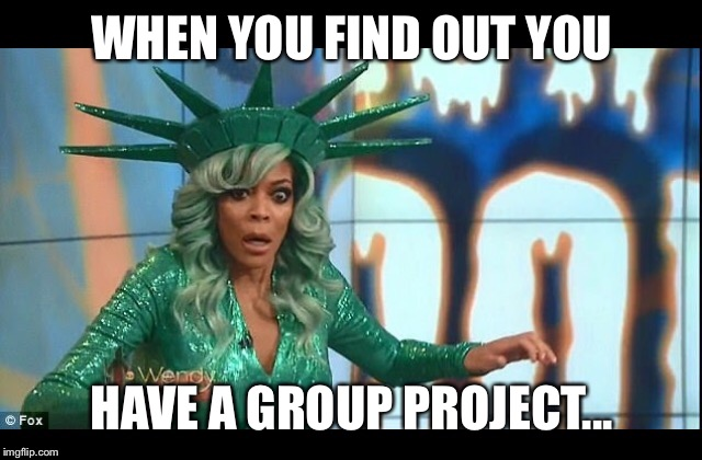 Wendy | WHEN YOU FIND OUT YOU HAVE A GROUP PROJECT... | image tagged in wendy williams,faint,memes,funny memes,funny meme | made w/ Imgflip meme maker