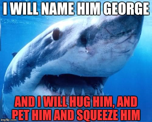 deadly love | I WILL NAME HIM GEORGE AND I WILL HUG HIM, AND PET HIM AND SQUEEZE HIM | image tagged in animals,funny meme | made w/ Imgflip meme maker