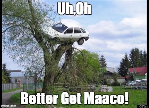 Secure Parking | Uh,Oh Better Get Maaco! | image tagged in memes,secure parking,commercial,funny | made w/ Imgflip meme maker