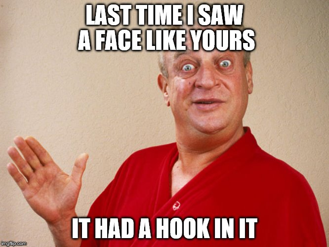 LAST TIME I SAW A FACE LIKE YOURS IT HAD A HOOK IN IT | made w/ Imgflip meme maker
