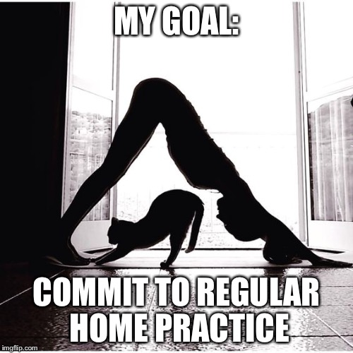 Home practice  | MY GOAL: COMMIT TO REGULAR HOME PRACTICE | image tagged in home practice | made w/ Imgflip meme maker