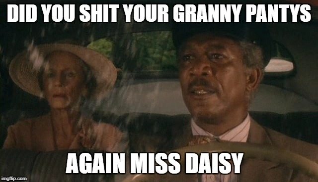DID YOU SHIT YOUR GRANNY PANTYS AGAIN MISS DAISY | image tagged in mission accomplished | made w/ Imgflip meme maker