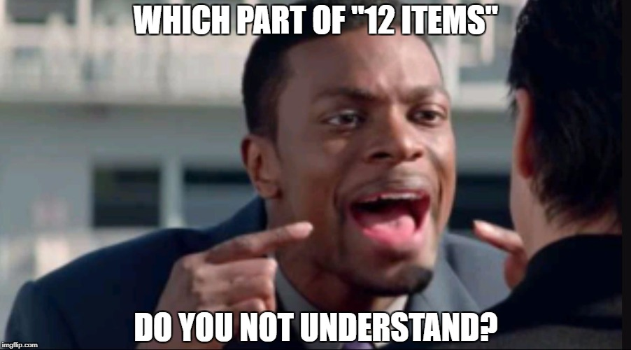 "Supermarket Express Checkout Rage! - a harrisp0 Daily Shopping Event | WHICH PART OF ""12 ITEMS"" DO YOU NOT UNDERSTAND? 