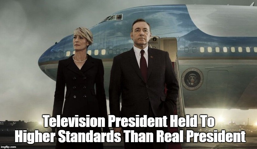 """Television President Held To Higher Standards Than Real President"" 