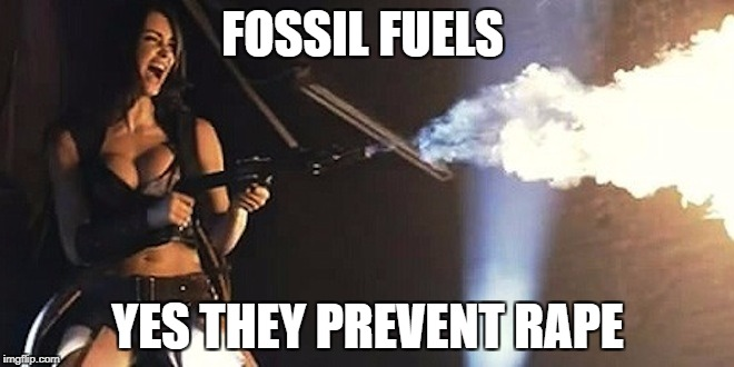 FOSSIL FUELS YES THEY PREVENT **PE | image tagged in flamethrowerbabe | made w/ Imgflip meme maker
