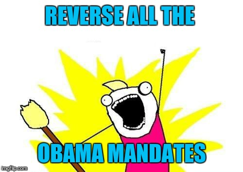 X All The Y Meme | REVERSE ALL THE OBAMA MANDATES | image tagged in memes,x all the y | made w/ Imgflip meme maker