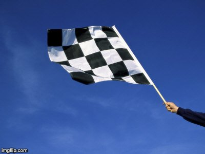 checkered flag waved | . | image tagged in checkered flag waved | made w/ Imgflip meme maker
