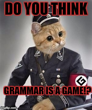 DO YOU THINK GRAMMAR IS A GAME!? | made w/ Imgflip meme maker