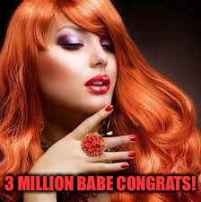 3 MILLION BABE CONGRATS! | made w/ Imgflip meme maker