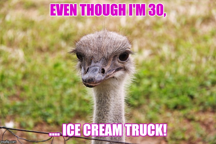 Ice cream truck! |  EVEN THOUGH I'M 30, .... ICE CREAM TRUCK! | image tagged in nicolas cage,ice cream truck,ice cream,ice cube,funny,hilarious | made w/ Imgflip meme maker