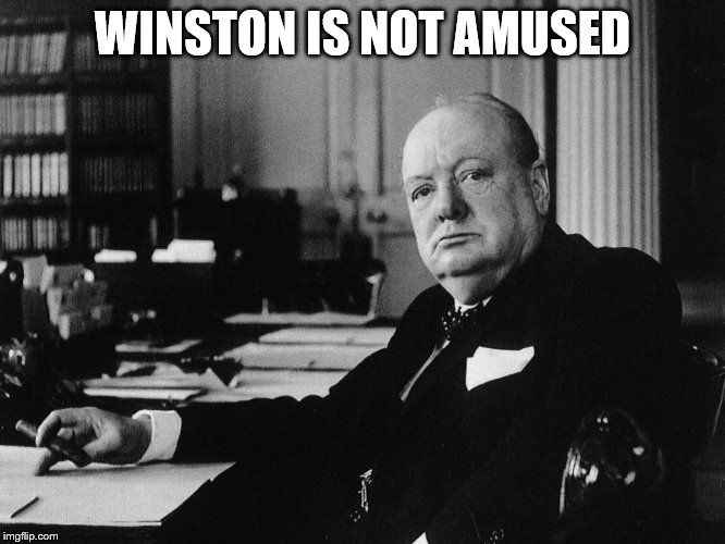 WINSTON IS NOT AMUSED | made w/ Imgflip meme maker