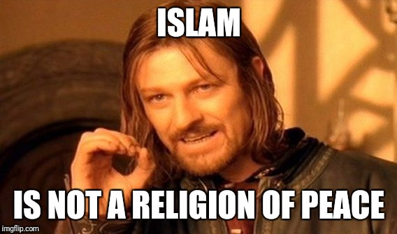 One does not simply figure out  | ISLAM IS NOT A RELIGION OF PEACE | image tagged in memes,one does not simply,islam,radical islam,isis,ordinary muslim man | made w/ Imgflip meme maker
