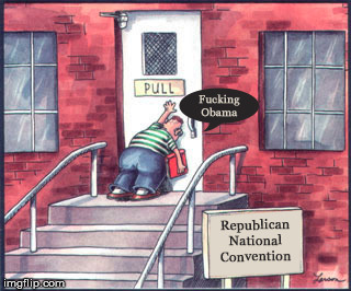 Typical GOP deflection be like... | . | image tagged in rnc,trump,blame obama,nsfw,memes,far side | made w/ Imgflip meme maker