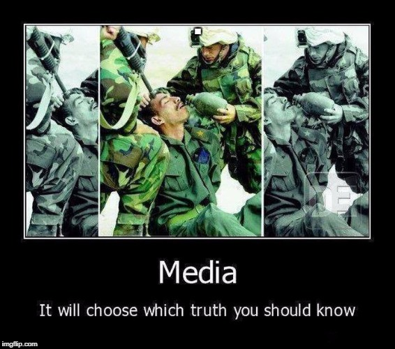 Media always gives you the picture it wants you to see. | . | image tagged in media,military,biased media | made w/ Imgflip meme maker