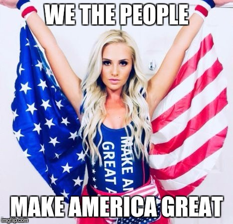 WE THE PEOPLE MAKE AMERICA GREAT | made w/ Imgflip meme maker