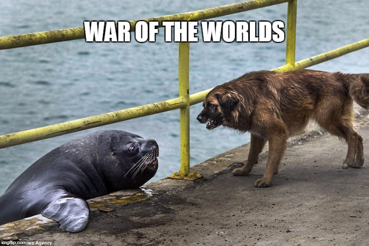 War of doggos | WAR OF THE WORLDS | image tagged in doggos,seapup | made w/ Imgflip meme maker