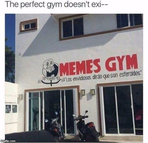the perfect gym doesn't exi_ | image tagged in meme,funny,memes,gym meme | made w/ Imgflip meme maker