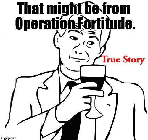 true story | That might be from Operation Fortitude. | image tagged in true story | made w/ Imgflip meme maker