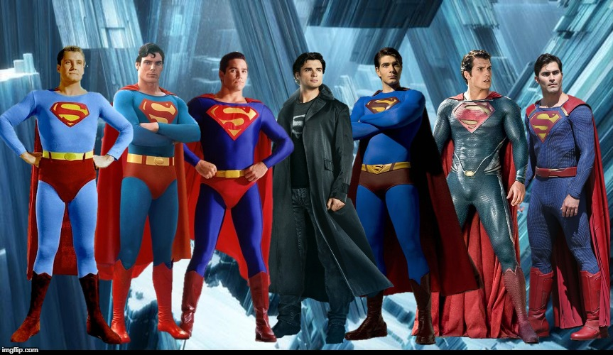 George Reeves Christopher Reeve Dean Cain Tom Welling Brandon Routh Henry Cavill Tyler Hoechlin