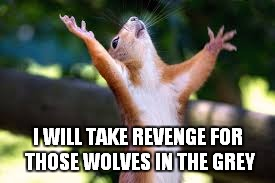 I WILL TAKE REVENGE FOR THOSE WOLVES IN THE GREY | made w/ Imgflip meme maker