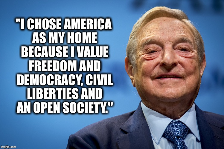 """I CHOSE AMERICA AS MY HOME BECAUSE I VALUE FREEDOM AND DEMOCRACY, CIVIL LIBERTIES AND AN OPEN SOCIETY."" 