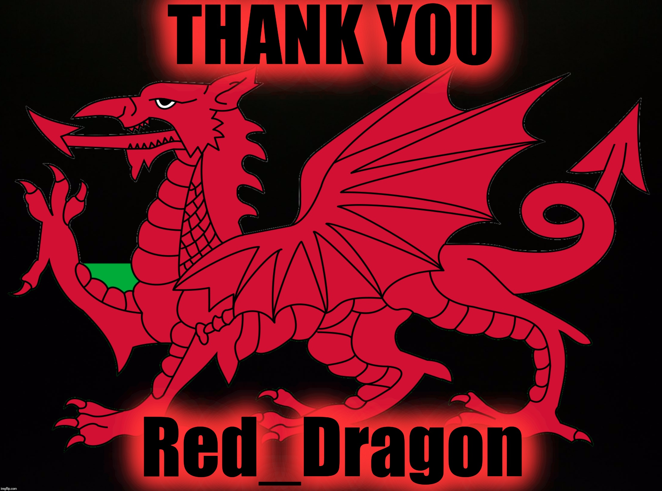 THANK YOU Red_Dragon | made w/ Imgflip meme maker