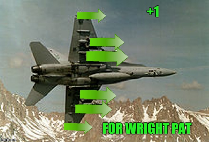 +1 FOR WRIGHT PAT | made w/ Imgflip meme maker