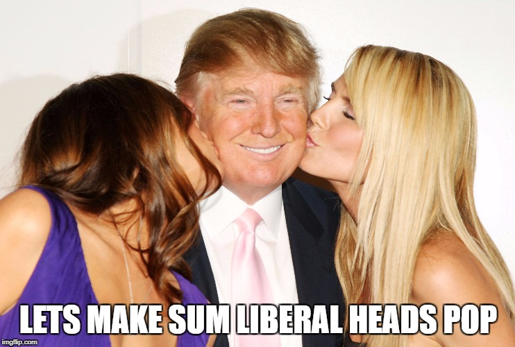 LETS MAKE SUM LIBERAL HEADS POP | image tagged in maga,president trump,butthurt liberals | made w/ Imgflip meme maker
