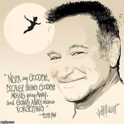 image tagged in robin williams never say good bye | made w/ Imgflip meme maker