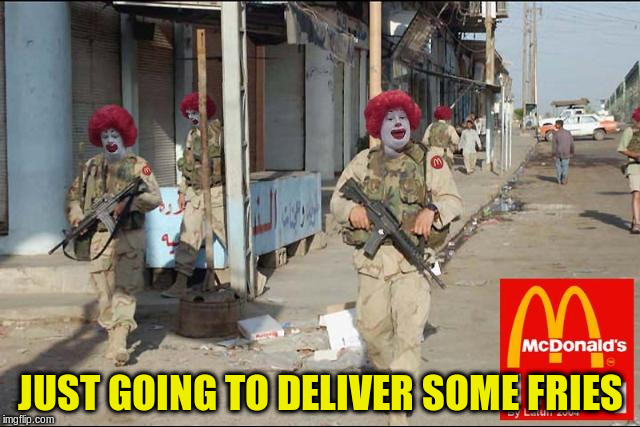 JUST GOING TO DELIVER SOME FRIES | made w/ Imgflip meme maker