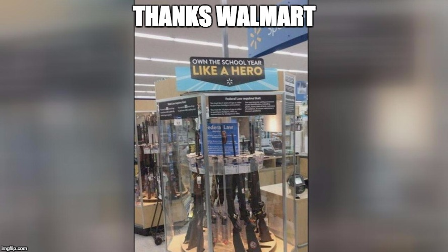 THANKS WALMART | image tagged in like a hero | made w/ Imgflip meme maker