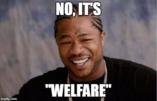 "Yo Dawg Heard You Meme | NO, IT'S ""WELFARE"" 