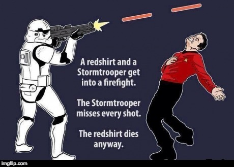 Lol found this online | image tagged in starwars,startrek | made w/ Imgflip meme maker