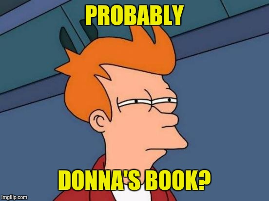 Futurama Fry Meme | PROBABLY DONNA'S BOOK? | image tagged in memes,futurama fry | made w/ Imgflip meme maker
