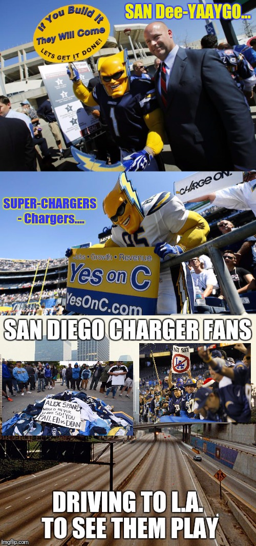 SAN Dee-YAAYGO... SUPER-CHARGERS - Chargers.... | made w/ Imgflip meme maker