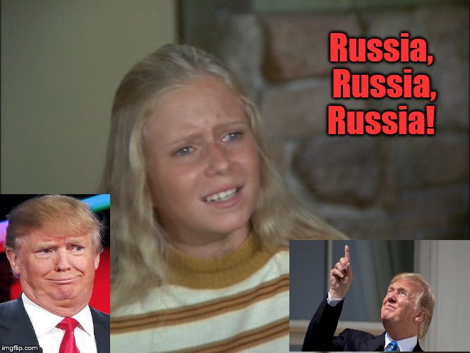 Brady Bunch Jan Russia, Russia, Russia! | Russia, Russia, Russia! | image tagged in donald trump,political memes,memes,jan brady,brady bunch,russia russia russia | made w/ Imgflip meme maker