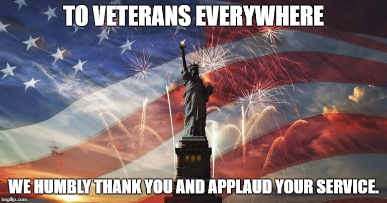 Happy Veterans Day! | TO VETERANS EVERYWHERE WE HUMBLY THANK YOU AND APPLAUD YOUR SERVICE. | image tagged in america | made w/ Imgflip meme maker