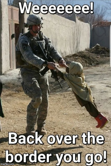 I can't take credit for this meme but I laughed too hard at it not to share. Military week Nov 5-11  | image tagged in memes,funny,military week,secure the border,border wall,soldier | made w/ Imgflip meme maker
