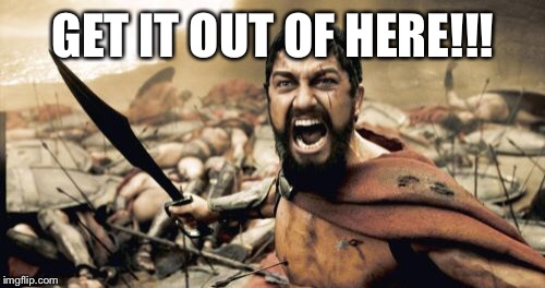 Sparta Leonidas Meme | GET IT OUT OF HERE!!! | image tagged in memes,sparta leonidas | made w/ Imgflip meme maker