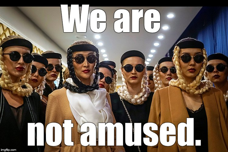 Yes, we're different | We are not amused. | image tagged in yes,we're different | made w/ Imgflip meme maker